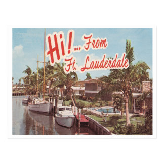 Vintage Ft. Lauderdale Post Card