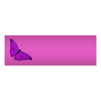 Vintage Fuchsia Purple Butterfly 1800 Illustration Double-Sided Mini Business Cards (Pack Of 20)