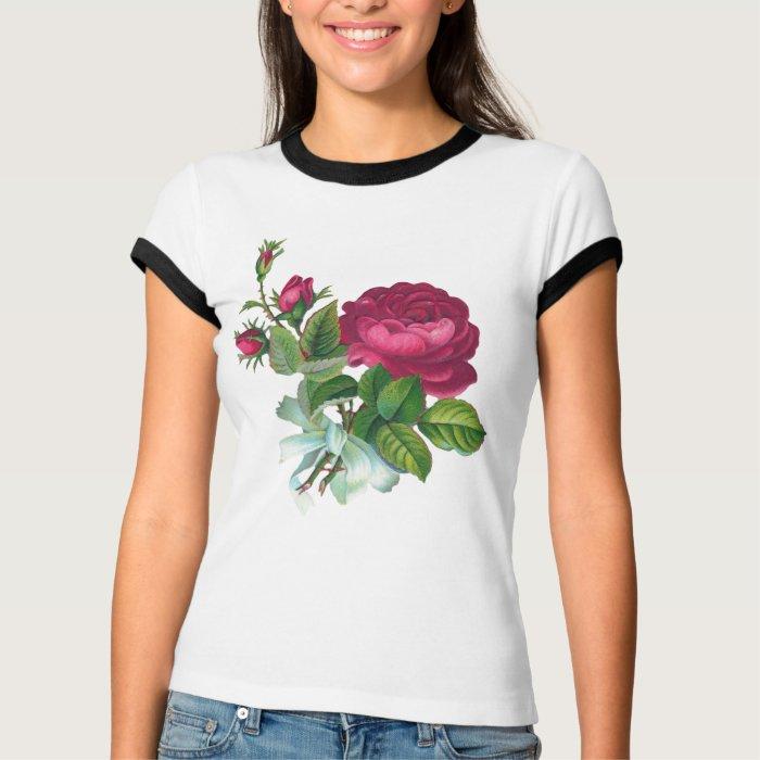 Vintage Fuchsia Rose T-Shirt