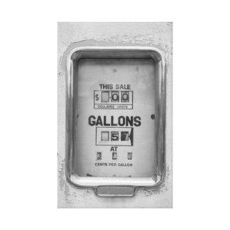 Vintage Fuel Pump / Bowser Dial - Canvas