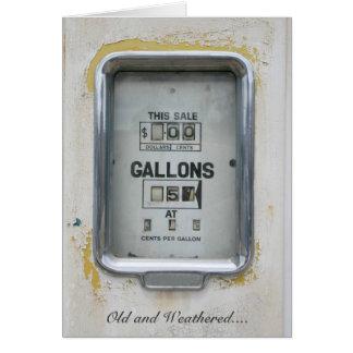 Vintage Fuel Pump / Bowser Dial - Greeting Card