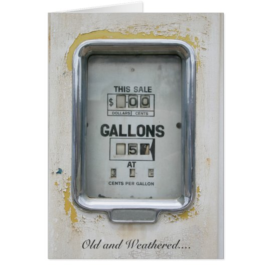Vintage Fuel Pump / Bowser Dial - Greeting Card