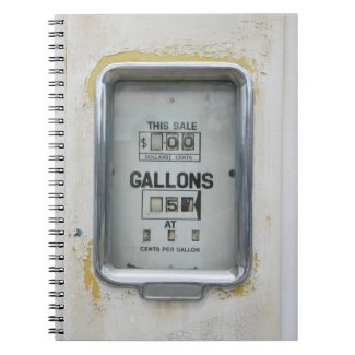 Vintage Fuel Pump / Bowser Dial - Notepad notebook