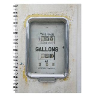 Vintage Fuel Pump / Bowser Dial - Notepad Notebook