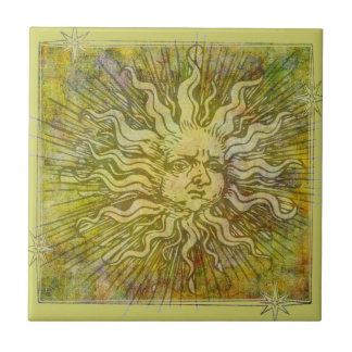 Vintage Full Sun Face Tile