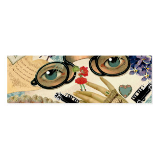 Vintage Fun Collage Calling Card Double-Sided Mini Business Cards (Pack Of 20)