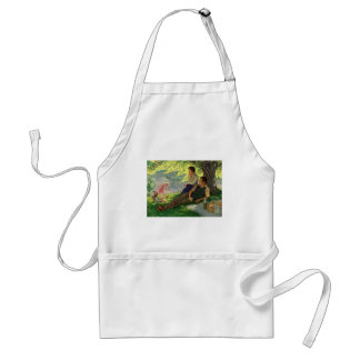 Vintage Fun Family Picnic Under a Shade Tree Adult Apron