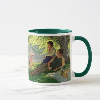 Vintage Fun Family Picnic Under a Shade Tree Mug