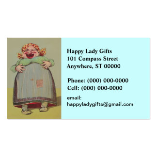 Vintage Fun Happy Lady Laughing LOL Business Card