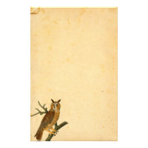 Vintage Fun-looking Owl Parchment Paper