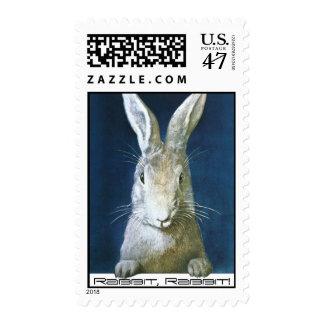 Vintage Fun Rabbit, Rabbit Lucky Saying Stamps