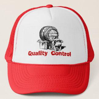 Vintage Fun Wine Barrel Inspector Quality Control Trucker Hat