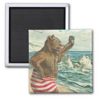 Vintage Funny Bear Magnet