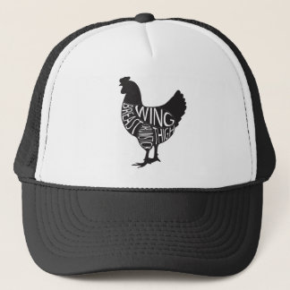 Vintage & Funny Chicken Design Trucker Hat