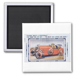 Vintage Funny Dad's Driver's Ed 2 Inch Square Magnet