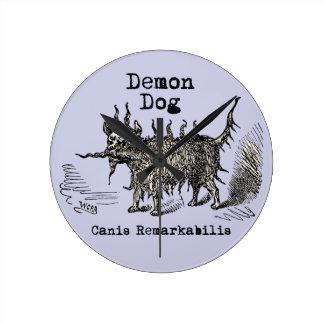 Vintage funny demon dog round wall clocks