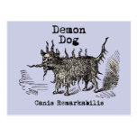Vintage funny demon dog postcard