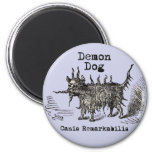 Vintage funny demon dog refrigerator magnet
