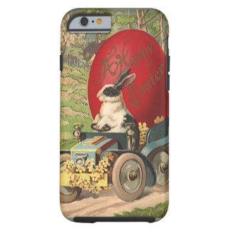 Vintage Funny Easter, Bunny Rabbit Egg Automobile Tough iPhone 6 Case