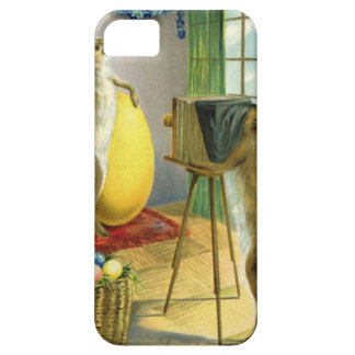 Vintage Funny Easter, Bunny Rabbit Photographer iPhone SE/5/5s Case