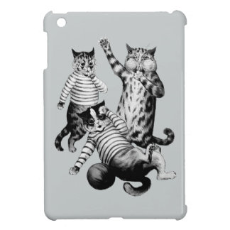 Vintage funny football playing cats case for the iPad mini