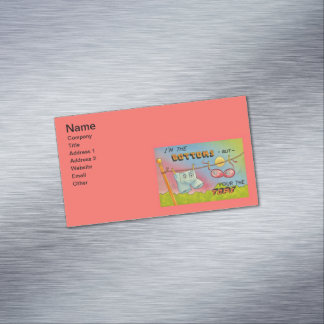 Vintage Funny Humor Clothes Hanging Clothesline Magnetic Business Card