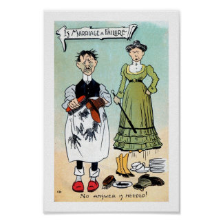 Vintage funny Is marriage a failure? Poster