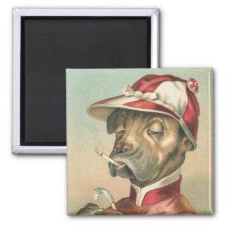 Vintage Funny Jockey Dog Magnet
