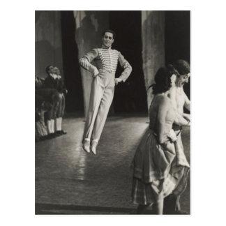 Vintage Funny Le Beau Danube the Borovansky Ballet Postcard