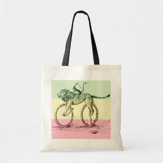 Vintage Funny Lion Monkey Whip Snakes Bicycle Bag