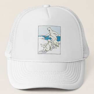 Vintage Funny Polar Bears Trucker Hat