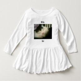 Vintage Fur Black White Kitten Retro Kitty Cat Art Dress