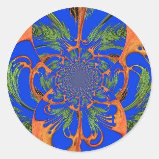 Vintage Fusion Hakuna Matata Fusion Designer Graph Classic Round Sticker