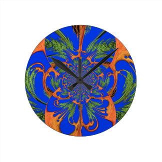 Vintage Fusion Hakuna Matata Fusion Designer Graph Round Wall Clocks