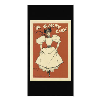 Vintage Gaiety Girl Musical Comedy Customized Photo Card