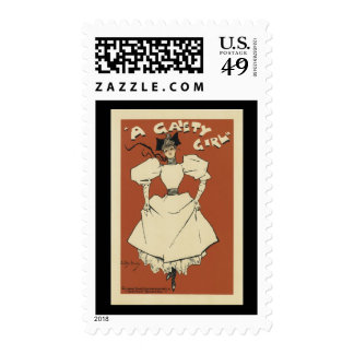 Vintage Gaiety Girl Musical Comedy Stamps