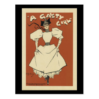 Vintage Gaiety Girl Musical Comedy Poster Postcards