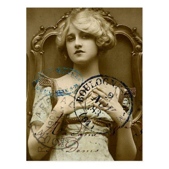 Vintage Gal Postcard