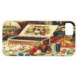 Vintage Gambling Poker Cards Cigars Bachelor Party iPhone SE/5/5s Case
