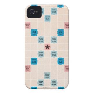 Vintage Gameboard del Scrabble iPhone 4 Protectores