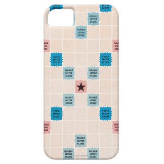 Vintage Gameboard del Scrabble iPhone 5 Carcasas