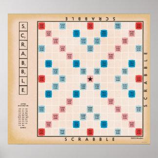 Vintage Gameboard del Scrabble Póster