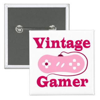 Vintage Gamer Pinback Buttons