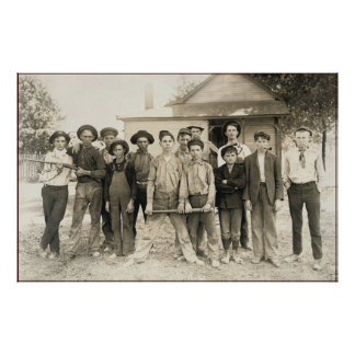 vintage gang of rascals and cowboys black white poster