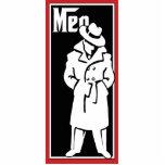 "Vintage Gangster Restroom plaque - mens room Statuette<br><div class=""desc"">Mens room plaque. Cool black &amp; white illustration. Man with trench coat and hat. Themed like the Godfather.</div>"