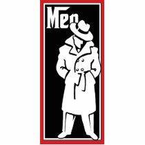 Vintage Gangster Restroom plaque - mens room Statuette