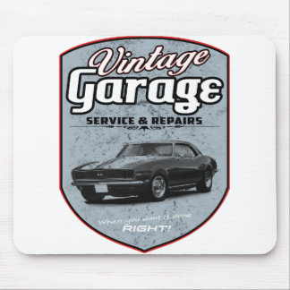 Vintage Garage Muscle Mouse Pad