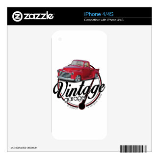 Vintage Garage Truck Decal For The iPhone 4