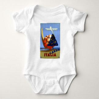 Vintage Garda Italy Europe Air Travel Baby Bodysuit