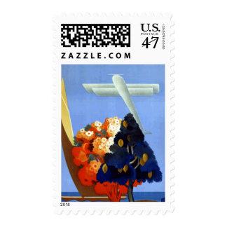 Vintage Garda Italy Europe Air Travel Stamp